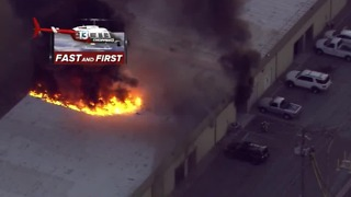Fire crews respond to warehouse fire in Henderson - Video