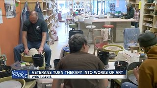 Veterans use pottery as form of therapy