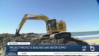 Sand dredging project protects water supply and beaches