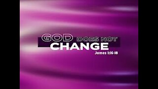 God Does Not Change
