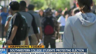 Southwestern College students to protest election - Video