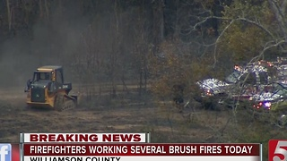 Crews Battle Multiple Brush Fires In Middle Tennessee - Video