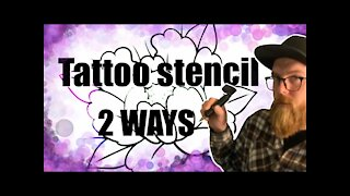 ✅How to make a tattoo stencil anywhere : 2 ways.