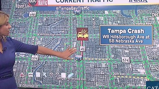 Serious crash closes intersection at Hillsborough and Nebraska in Tampa - Video