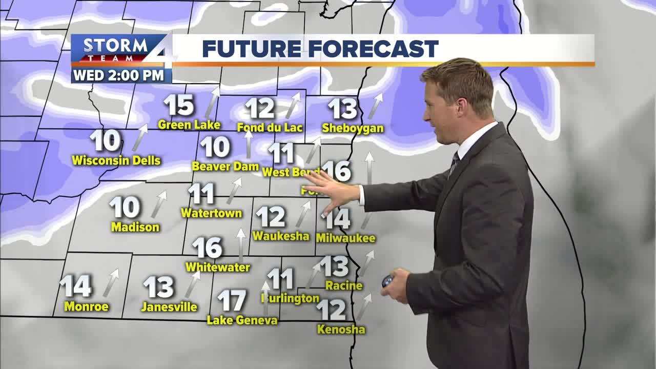 Cold and cloudy Wednesday; snow late