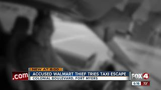 Man shoplifts from Walmart before asking taxi driver to speed away - Video