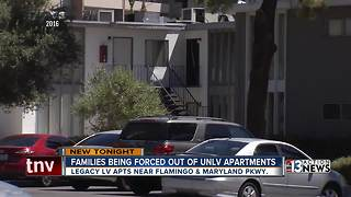 Families being forced out of UNLV apartments - Video