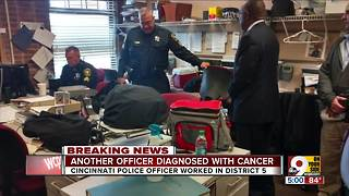 Another Cincinnati officer diagnosed with cancer - Video