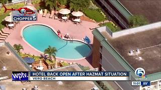 Hotel back open after hazmat situation in Vero Beach - Video