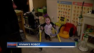 Robot Helps Wisconsin Girl Take First Steps - Video