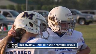 Dad starts all girl all football league - Video