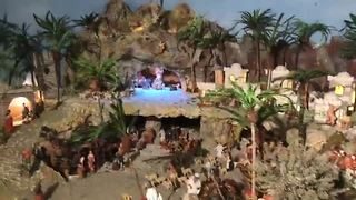 West Palm Beach family builds massive nativity scene inside home - Video
