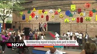 New skate park in Detroit - Video