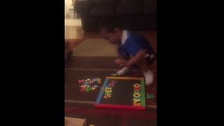 Toddler correctly spells out 'xylophone' - Can you? - Video