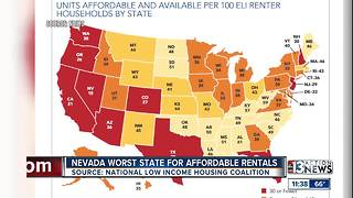 Nevada worst state for rentals for poor