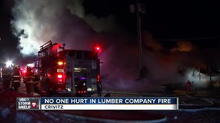 Lumber company building a complete loss