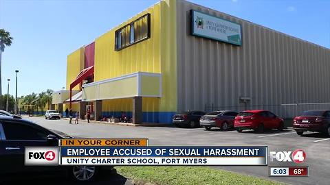 School employee accused of sexual harassment
