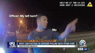 Caught on camera: Police major pulled over for speeding by Boynton Beach officer - Video