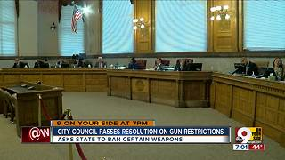 City council passes resolution on gun restrictions - Video