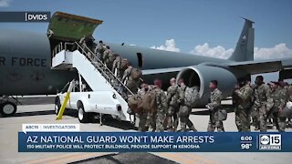 Arizona National Guard won't make arrests in Kenosha