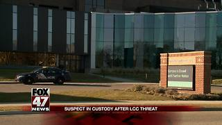 Suspect who made threat against LCC has been apprehended - Video