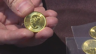 Secret Santa surprises Elyria Salvation Army's Christmas Red Kettle campaign with solid gold coins - Video