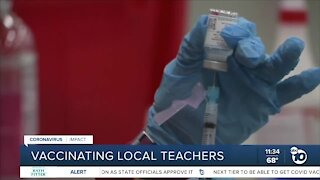 Vaccinating local teachers