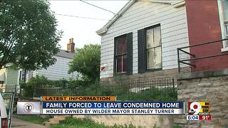 Family forced to leave condemned home - Video