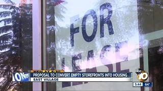 Proposal to fill vacant stores, create housing
