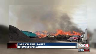 Mulch Fires in Collier County - Video