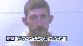 Man accused of killing aunt, uncle charged with two counts of murder - Video