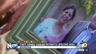 Theft denies cancer patient's lifelong wish - Video