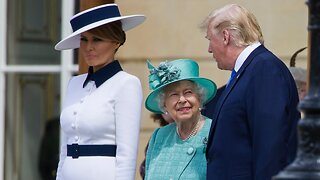 Donald Trump meets Queen Elizabeth at Buckingham Palace