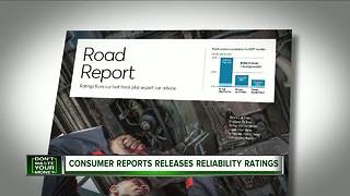 Consumer Reports releases auto reliability rataings