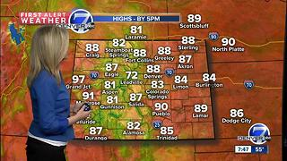 80s this weekend for most of Colorado - Video