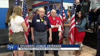 High school students honor veterans