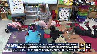 Natalie Eder of Halstead Academy is the September winner of the ABC2 Teachers Are Heroes award - Video