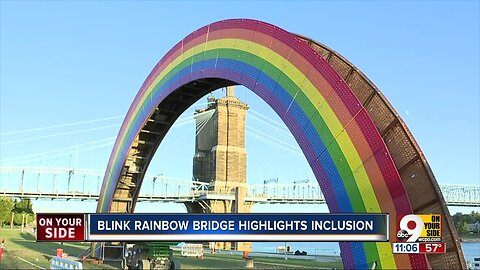 Travelling rainbow bridge in town for BLINK highlights LGBTQ issues