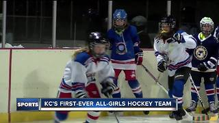 Kansas City's first-ever all-girls hockey team - Video