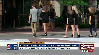 Purcell crash siblings remembered at memorial service - Video