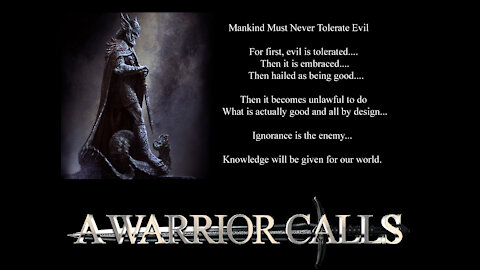 A Warrior Calls Live Stream September 3rd 2020