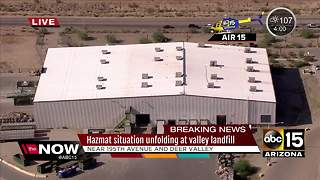 Hazmat situation at Surprise landfill - Video