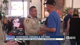 Las Vegas community comes together one week after mass shooting - Video