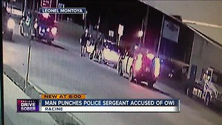 Video shows Racine police sergeant get punched in the face