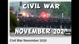 Civil War November 2020---The steal has moved civil war to January 2021!