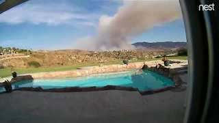Timelapse Video Shows Growth of Canyon Fire Near Corona, California - Video