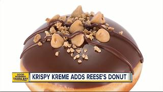 Reese's Peanut Butter Doughnut is here! Get the sweet treat at Krispy Kreme starting Friday - Video