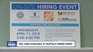 More than 500 jobs available at Buffalo on-site hiring event - Video
