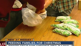 Families in need receive Christmas Meal-In-A-Bag for their holiday dinners this weekend - Video