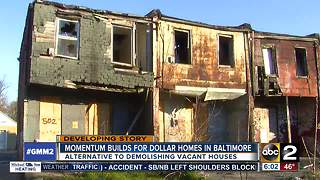 Momentum builds for dollar houses in Baltimore - Video